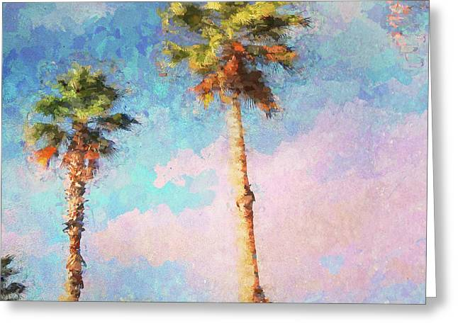 Painted Palms Greeting Card