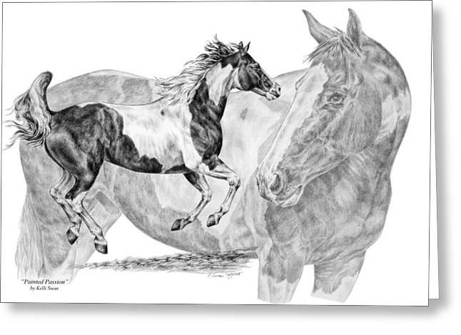 Painted Passion - Paint Horse Art Print Greeting Card