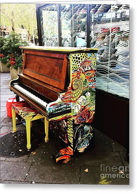 Painted Pianos  Greeting Card