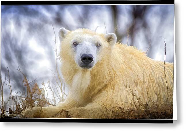 Painted Polar Bear  Greeting Card by LeeAnn McLaneGoetz McLaneGoetzStudioLLCcom