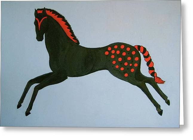 Greeting Card featuring the painting Painted Pony by Stephanie Moore