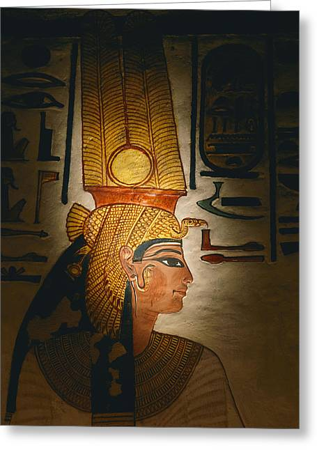 Painted Relief, Nefertari Tomb, Valley Greeting Card by Kenneth Garrett