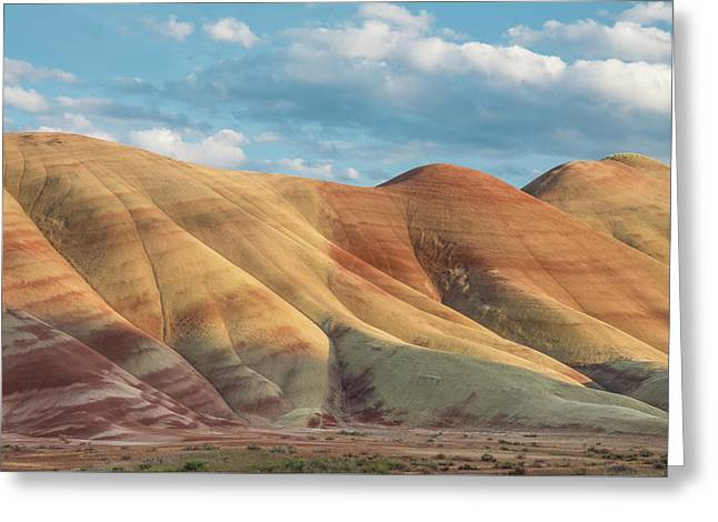 Painted Ridge And Sky Greeting Card by Greg Nyquist