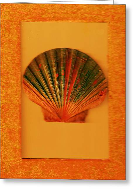 Painted Shell II Greeting Card by Anne-Elizabeth Whiteway