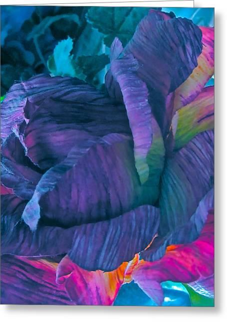 Painted Silk Greeting Card by Gwyn Newcombe