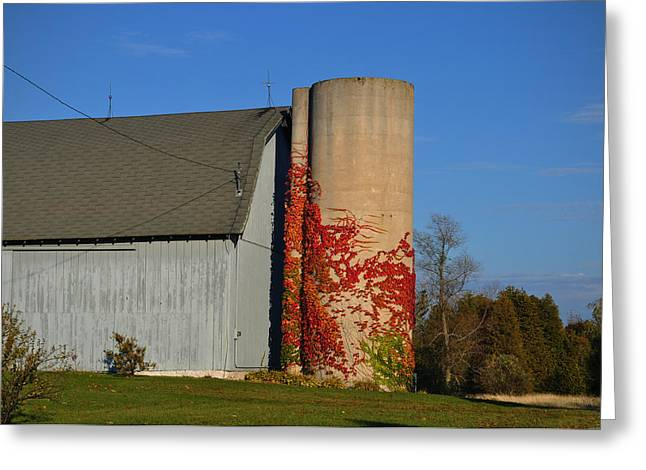 Painted Silo Greeting Card