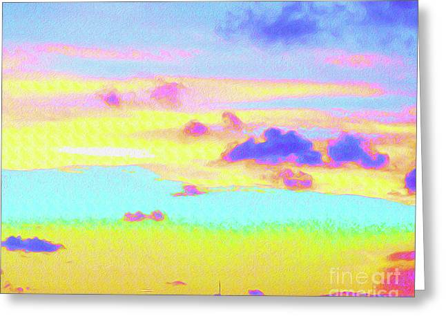 Painted Skies Greeting Card by Chris Andruskiewicz