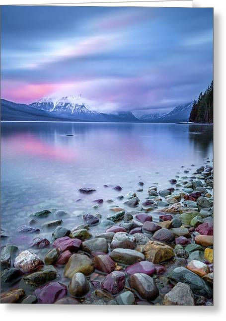 Painted Skies Over Stanton Peak // Lake Mcdonald, Glacier National Park Greeting Card