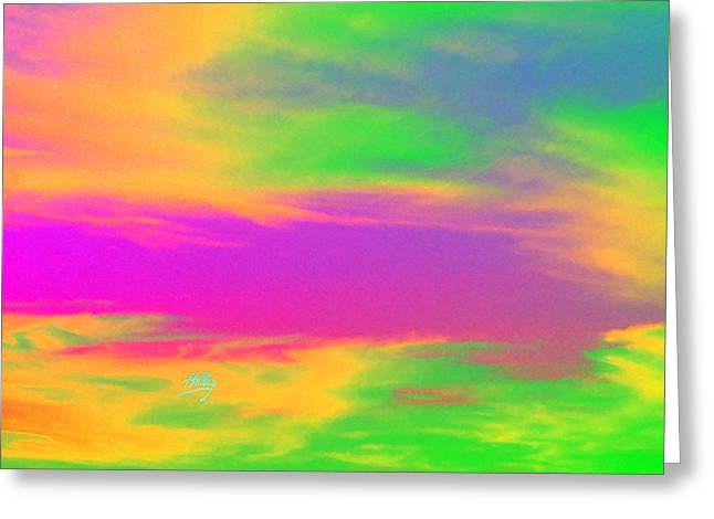 Painted Sky - Abstract Greeting Card