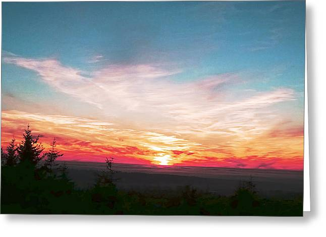 Painted Sky II Greeting Card