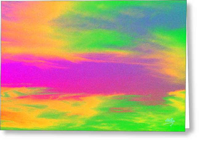 Painted Sky - Abstract Greeting Card by Linda Hollis