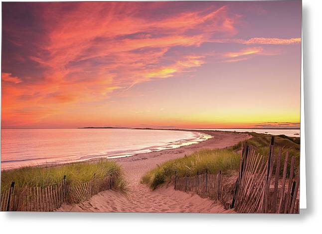 Painted Sky Over Napatree Point Greeting Card