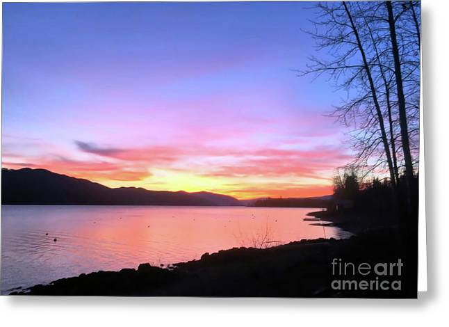 Painted Sky Greeting Card by Victor K