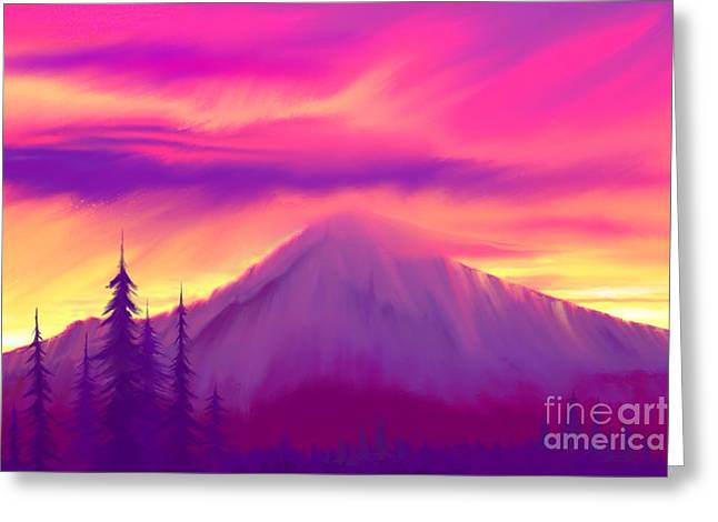 Painted Sunrise  Greeting Card by Nick Gustafson