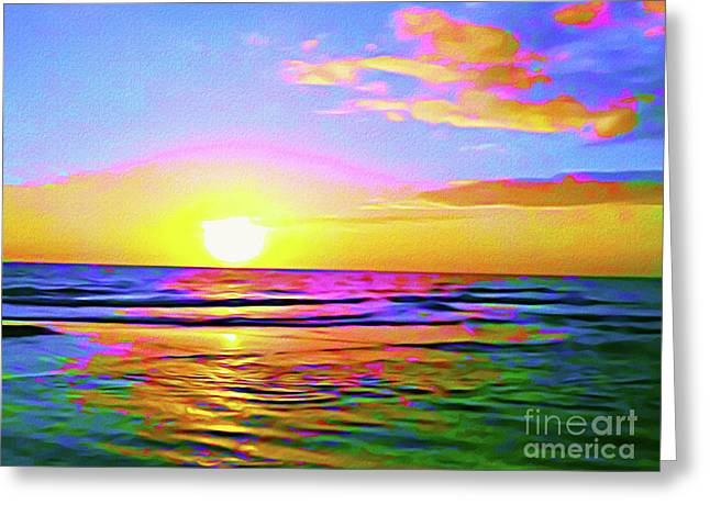 Painted Sunset Greeting Card by Chris Andruskiewicz