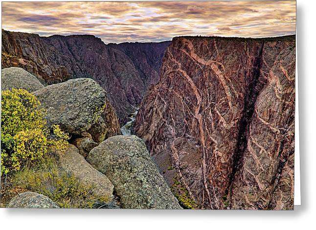 Painted Wall At Black Canyon Of The Gunnison - Colorado - Landscape Greeting Card by Jason Politte