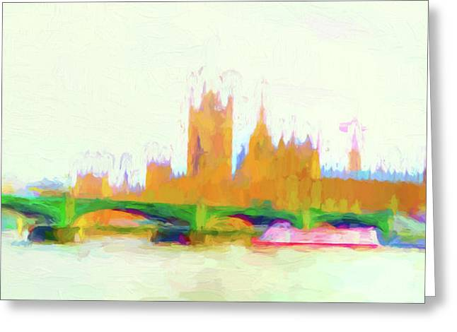 Painted Westminster Greeting Card