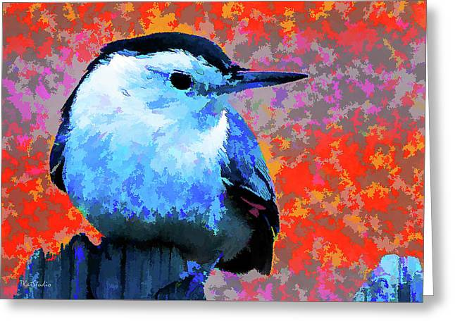 Painted White Breasted Nuthatch Greeting Card