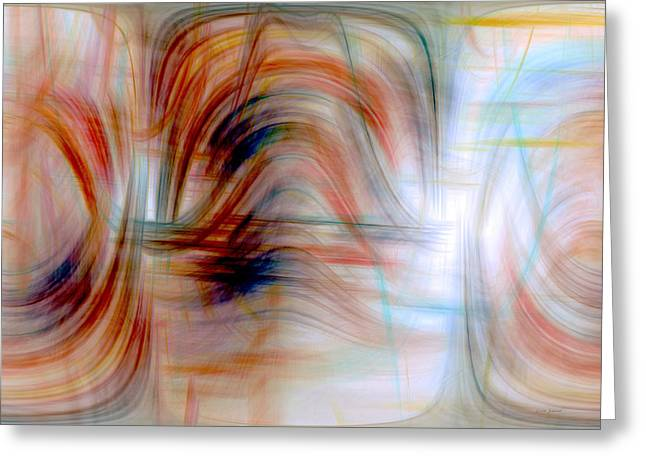 Painted Windows Greeting Card by Linda Sannuti