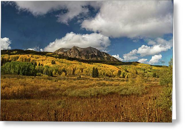 Painterly Kebler Pass Greeting Card
