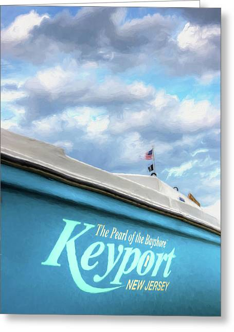 Greeting Card featuring the photograph Painterly Keyport Sailboat by Gary Slawsky