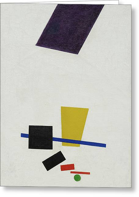 Painterly Realism Of A Football Player - Color Masses In The 4th Dimension Greeting Card by Kazimir Malevich