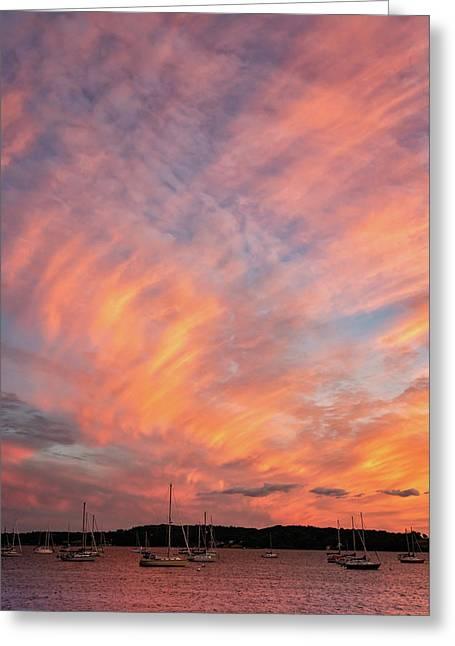 Painterly Sunset Greeting Card