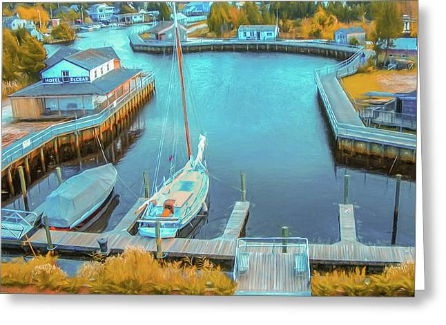 Painterly Tuckerton Seaport Greeting Card
