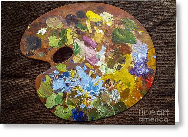 Painter's Palette Greeting Card
