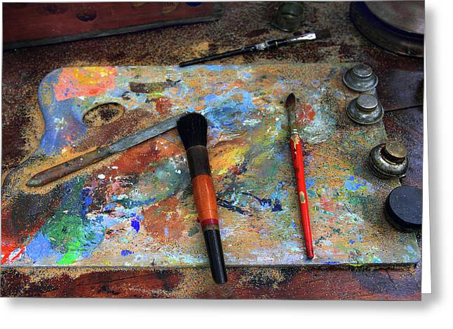 Greeting Card featuring the photograph Painter's Palette by Jessica Jenney