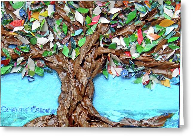 Painters Palette Of Tree Colors Greeting Card by Genevieve Esson