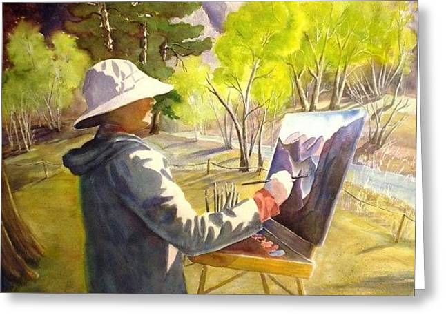 Greeting Card featuring the painting Painters Paradise by Marilyn Jacobson