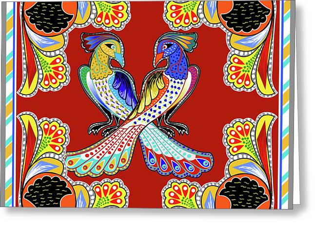 Painting 629 1 Truck Art 6 Greeting Card by Mawra Tahreem