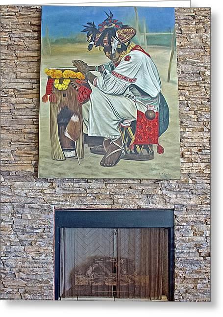 Greeting Card featuring the photograph Painting Above Fireplace At Encanto Resort South Of Puerto Penasco In Sonora-mexico   by Ruth Hager