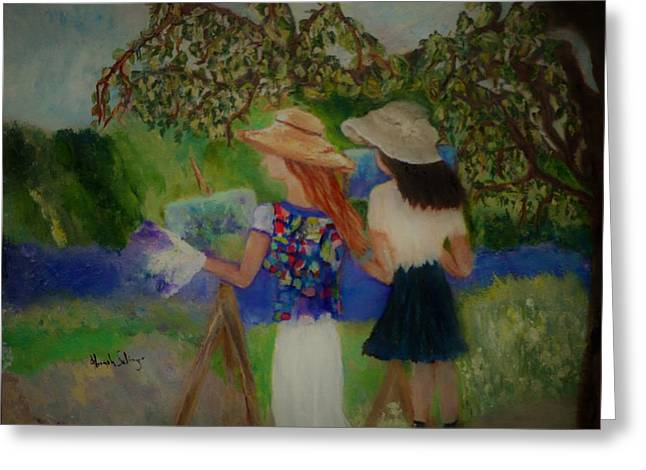 Painting In France Greeting Card