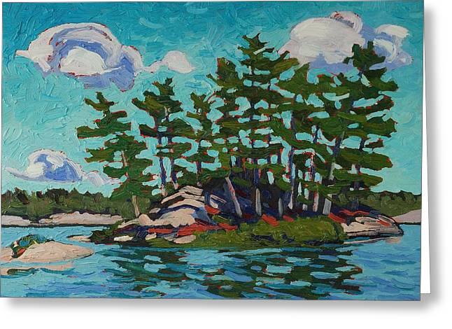 Painting Island Greeting Card