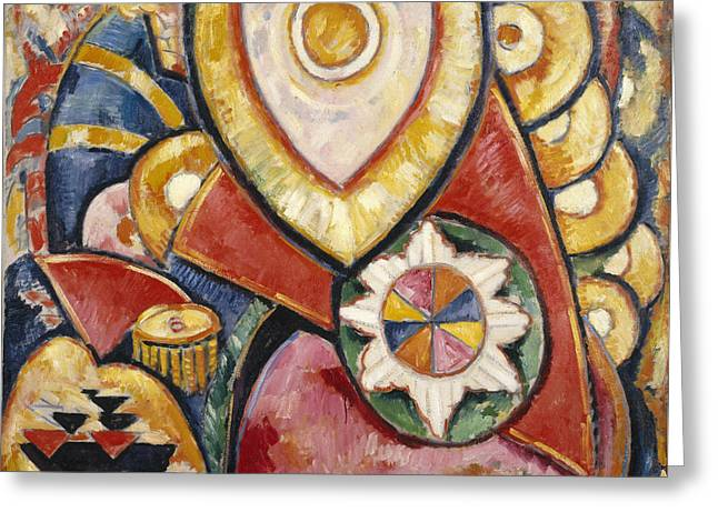 Painting No. 48 Greeting Card by Marsden Hartley