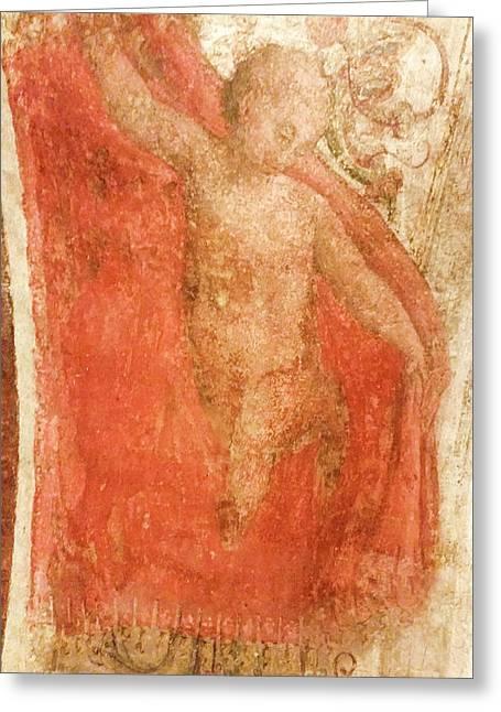 Painting Of A Cherub Greeting Card by Vladi Alon