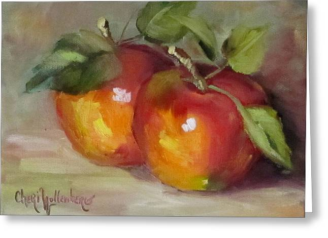 Painting Of Delicious Apples Greeting Card by Cheri Wollenberg