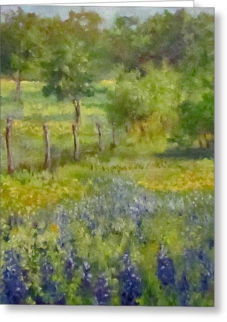 Painting Of Texas Bluebonnets Greeting Card by Cheri Wollenberg