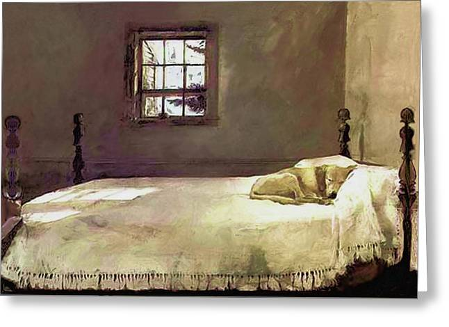 Painting Of The Print, Master Bedroom Greeting Card