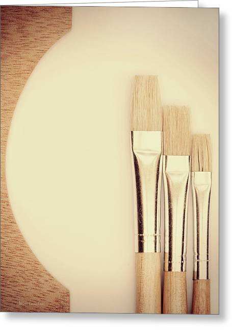 Painting Tools Greeting Card by Wim Lanclus