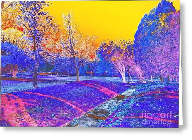 Painting With Shadows Greeting Card by Scott D Van Osdol