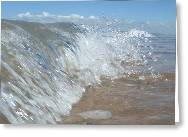 Greeting Card featuring the photograph Painting With Waves by Mira Cooke