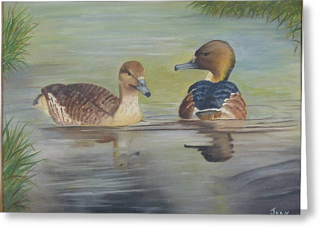 Pair Of Ducks Greeting Card by Joan Taylor-Sullivant