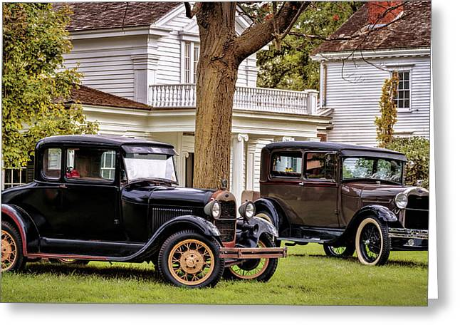 Pair Of Ford Model A  Greeting Card