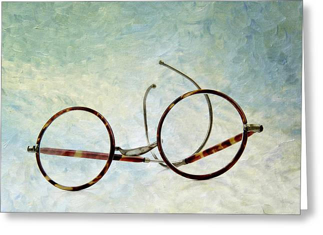 Pair Of Glasses Greeting Card by Bernard Jaubert