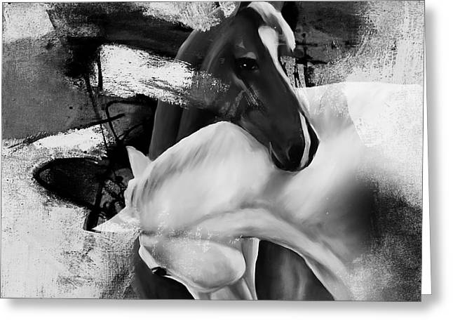 Pair Of Horse  Greeting Card by Gull G