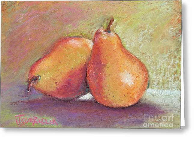 Pair Of Pears Greeting Card by Joyce A Guariglia