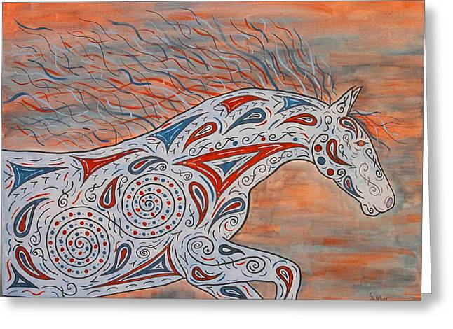 Paisley Spirit Greeting Card by Susie WEBER